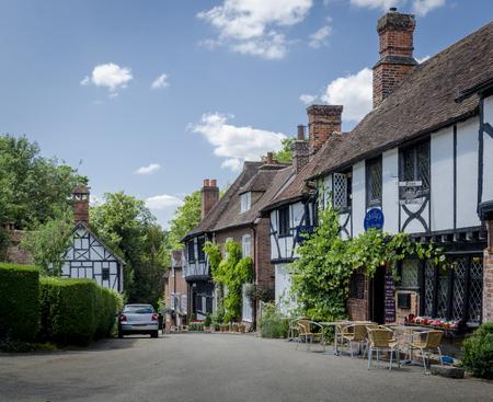 kent: Village street with tea rooms, Chilham, Kent, UK Stock Photo
