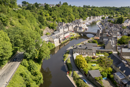 rance: Birds Eye View of the Port of Dinan