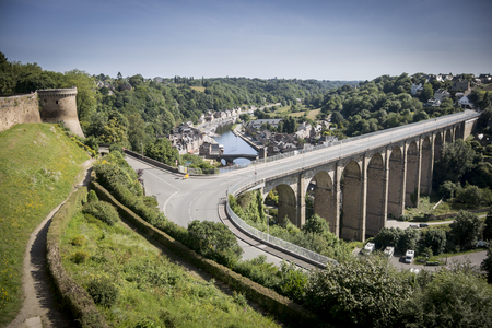 dinan: View of the Port of Dinan and viaduct from Dinan city wall