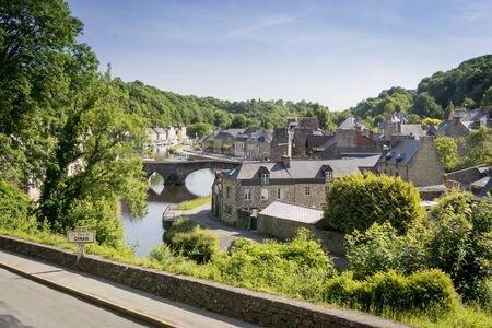 rance: View of the Port of Dinan and river Rance