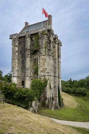 15th century: Chteau de Saint-Sauveur-le-Vicomte,  Normandy, France, 12th - 15th century castle tower