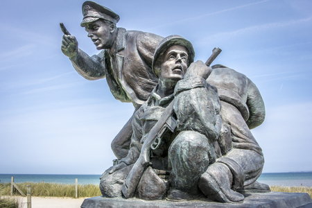 Naval Memorial for the battle of Utah Beach, Normandy, France