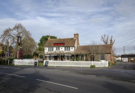 alehouse: WOODCHURCH, KENT, UK, 25 JANUARY 2016 - Six Bells public house in the village of Woodchurch, Kent, UK Editorial
