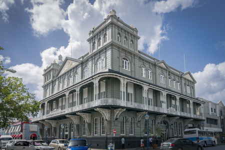 barbadian: BRIDGETOWN, BARBADOS, 21 DECEMBER 2015 - The iconic Barbados Mutual Life Assurance Society building, Bridgetown, Barbados Editorial