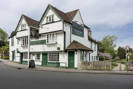 public house: LOOSE, KENT, UK, 11 MAY 2015 - The Chequers public house in the pretty village of Loose, Kent, UK Editorial