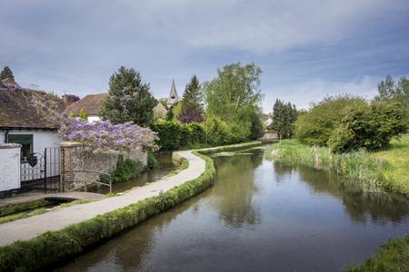 kent: Loose river running through the village of Loose, Kent, UK