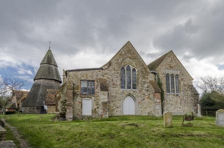 kent: External view of Saint Augustines church, Brookland, Romney Marsh, Kent