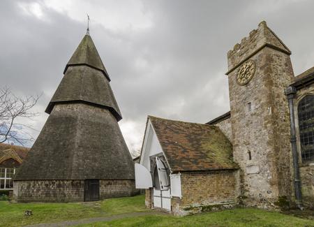 romney: External view of Saint Augustines church, Brookland, Romney Marsh, Kent