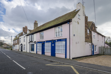 romney: HIGH STREET, BROOKLAND, ROMNEY MARSH, KENT, UK, 23 FEBRUARY 2016 - View of the High Street in the village of Brookland, Romney Marsh, Kent Editorial