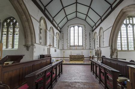 romney: View towards the chancel of Saint Augustines church, Brookalnd, Romney Marsh, Kent