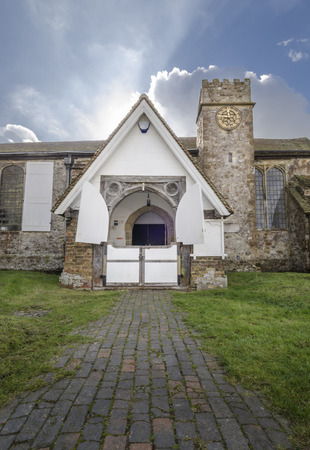 Entrance to St Augustines Church, Brookland, Romney Marsh, Kent