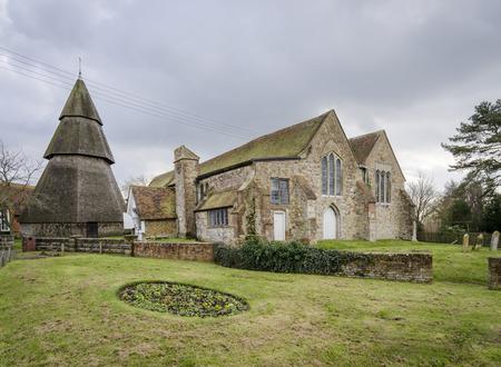 kent: Entrance to St Augustines Church, Brookland, Romney Marsh, Kent