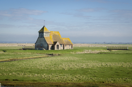 romney: St Thomas a Becket Church in Fairfield, Romney Marsh, Kent, UK