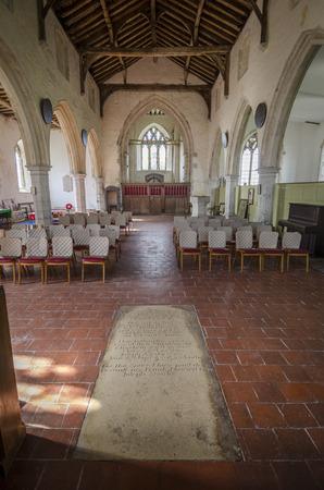 romney: Interior view of  14th century St Georges church, Ivychurch, Romney Marsh, Kent, UK Editorial