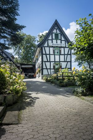 timbered: Half timbered building, Drachenburg Castle, Germany