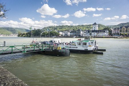slipway: Ferry to Boppard on the River Rhine, Germany Editorial