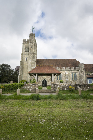 Saint John the Baptist church at Harrietsham, Kent, UK