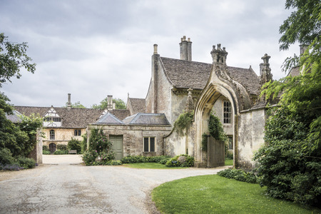 Lacock Abbey, former home of the photography pioneer; William Henry Fox Talbot,  in the village of Lacock, Wiltshire, UK
