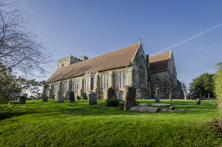 weald: St Marys church in the pretty village of Goudhurst, Kent, UK Stock Photo