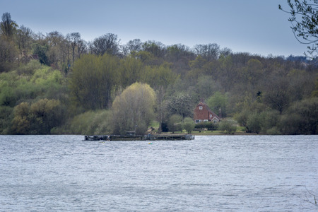 weald: Bewl Water reservoir in High Weald, Kent, UK Stock Photo