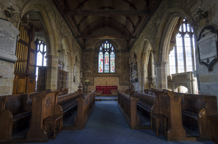 weald: Interior of St Marys church in the pretty village of Goudhurst, Kent, UK Editorial