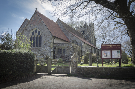 parish: St George Church in the village of Brede, Kent, UK Stock Photo