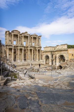 Celsus Library in the ancient city of Ephesus in Selcuk, Turkey