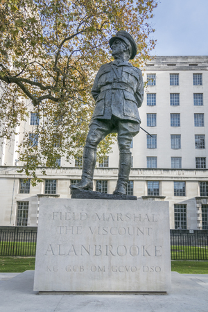 Field Marshal Viscount Alan Brooke, Statue in Whitehall, London