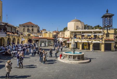 Hippocrates Square, oude stad van Rhodos, Griekenland