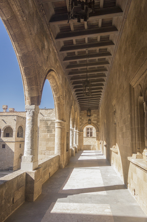 Palace of the Grand Master of the Knights of Rhodes , also known as the Kastello , is a medieval castle in the city of Rhodes, on the island of Rhodes in Greece