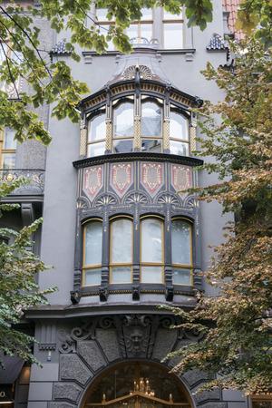 artdeco: Art-deco building in the Jewish quarter in Prague, Czech Republic,