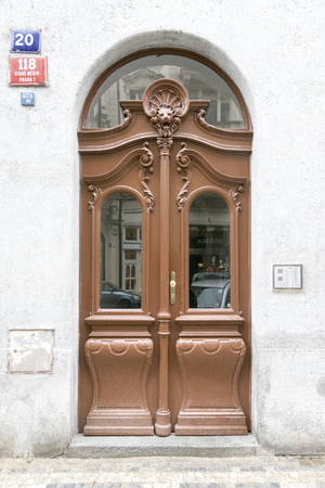 artdeco: Art-deco door in Prague, Czech Republic, Stock Photo
