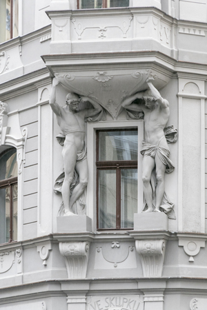 artdeco: Art-deco building in Prague, Czech Republic,