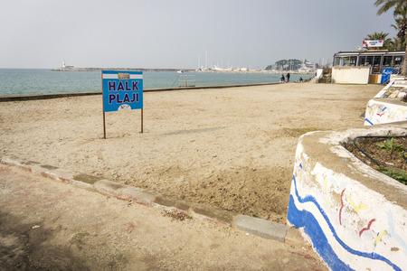 Halk beach at Kusadasi, Turkey