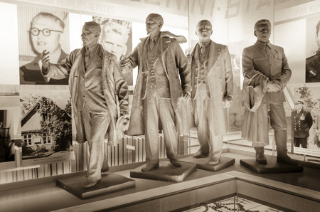 Socialist realist statues of Communist leaders at the Museum of Occupations, Kuressaare, Saarema, Estonia