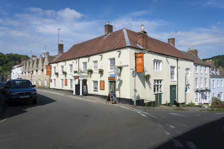 almshouse: View of Church Street, Wotton-under-Edge, Gloucestershire, UK