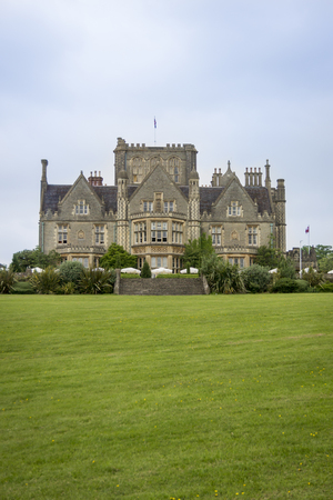 Tortworth Court hotel building and gardens, Wotton-under-Edge, Gloucestershire, UK Editorial