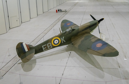 Supermarine Spitfire Mk.Vb at Imperial War Museum, Duxford, UK Editorial