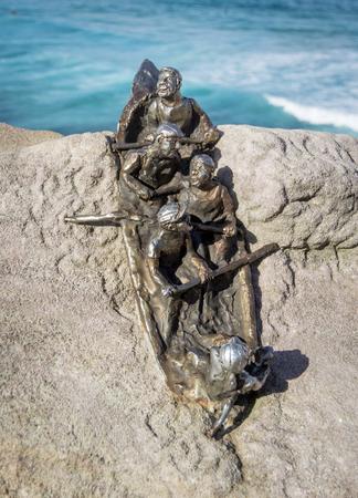 Black Sunday Lifeboat sculpture on Bondi Beach, New South Wales, Australia