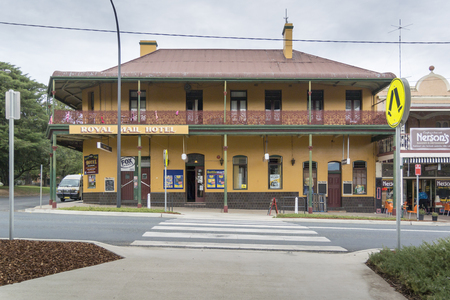 Royal Mail Hotel in the town of Braidwood, New South Wales, Australia Editorial