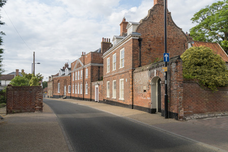 Historic Montagu House and other buildings in Northgate, Beccles, Suffolk, England
