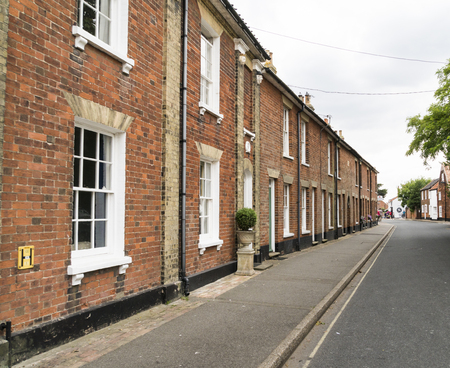 A row of historic cottages in the historic town of Southwold, Suffolk UK