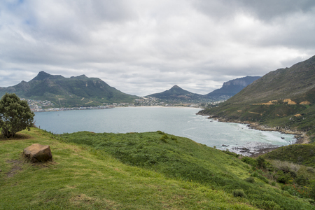 Arial view of Hout Bay, a suburb of Cape Town, South Africa Stockfoto