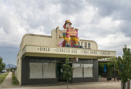 Facade of a Diner in the city of Wodonga, Victoria, Australia