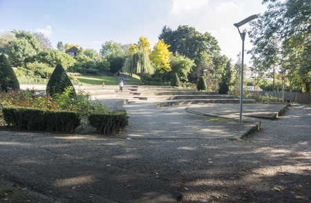 The Hermitage Millnnium Amphitheatre on the banks of the River Medway at Maidstone, Kent, UK