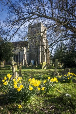 St Margaret's church in the village of Bethersden, Kent, UK Imagens