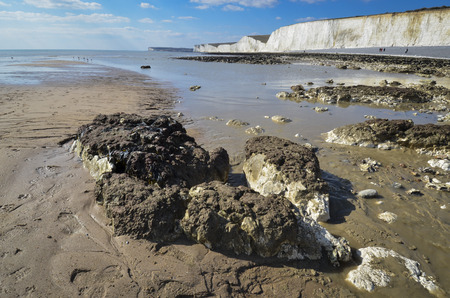 Birling Gap and the Seven Sisters Country Park Standard-Bild - 121438261