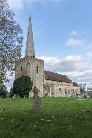Saint Marys church in the small market town of West Malling, Kent, UK