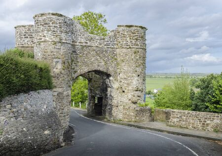 Ancient stone gateway  circa 1300, to the small town of Winchelsea, East Sussex, Kent
