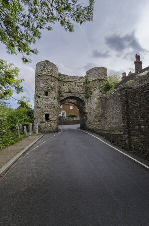 Ancient stone gateway to the small town of Winchelsea, East Sussex, Kent